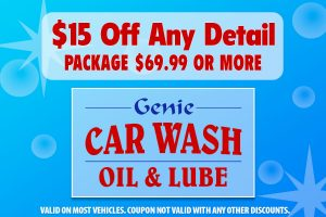 $15 Off Any Detail Package $69.99 or More